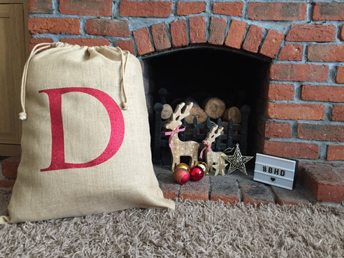 Personalised Initial Christmas Sack