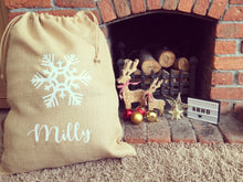 Personalised Snowflake Christmas Sack