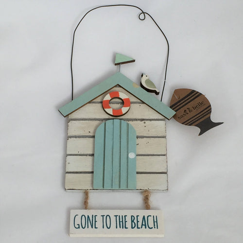 Gone to the Beach Hanging Beach Hut Sign