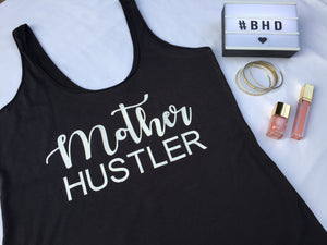 "Hand Printed Sweater/Vest/Tee ""Mother Hustler"""