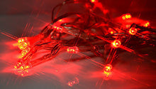 red 2m 20 LED battery operated fairy lights