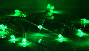 green 2m 20 LED battery operated fairy lights