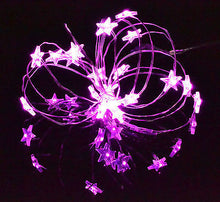 Star Lights LED Silver wire pink battery powered