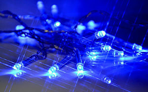 blue 2m 20 LED battery operated fairy lights