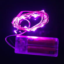 2m String Micro 20 LED Battery Operated Fairy Lights Powered by 2 x AA Batteries, Copper Wire