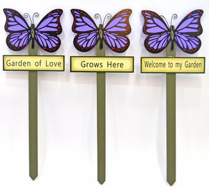Butterfly garden stakes decorations - Purple