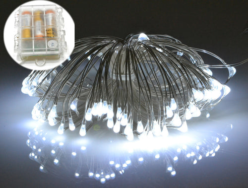 waterproof cool white micro LED fairy lights, battery operated fairy lights 100