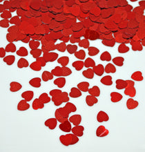 36gms Red Love Heart Shaped Foil Table Confetti Wedding Valentine Anniversary