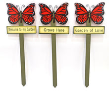 Butterfly garden stakes decorations - Red