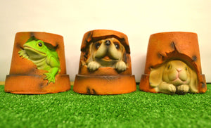 Animal Solar Powered Garden Ornament Puppy Bunny Frog Light Up Decoration