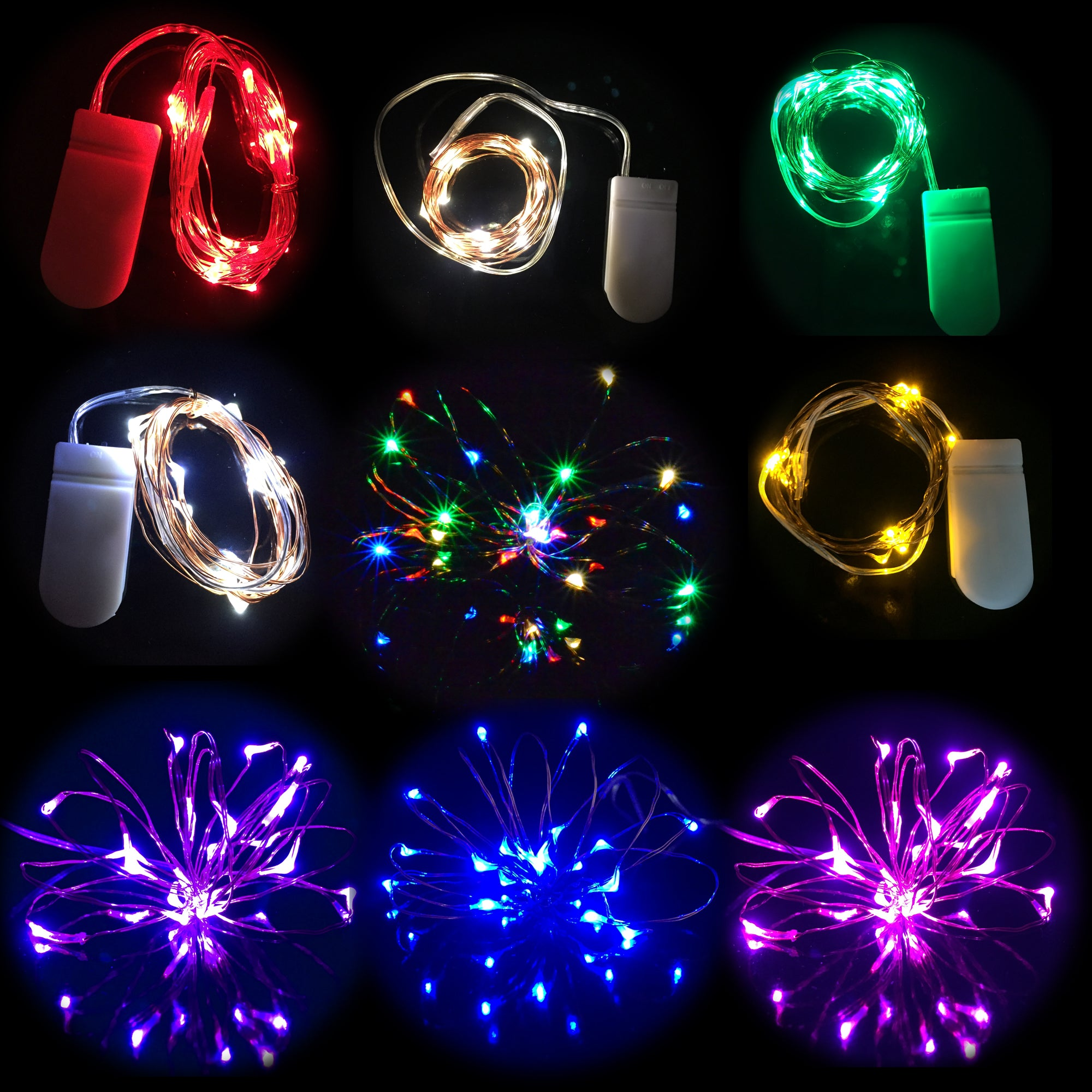 20 Micro Led Lights Cr2032 Battery Operated Fairy Light