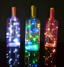 20 LED Wine/Beer Bottle Cork Fairy Lights Gold Wire Warm/Cool White Multi-Colour