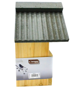 Wooden Garden birdbox deluxe nesting box for wild song birds