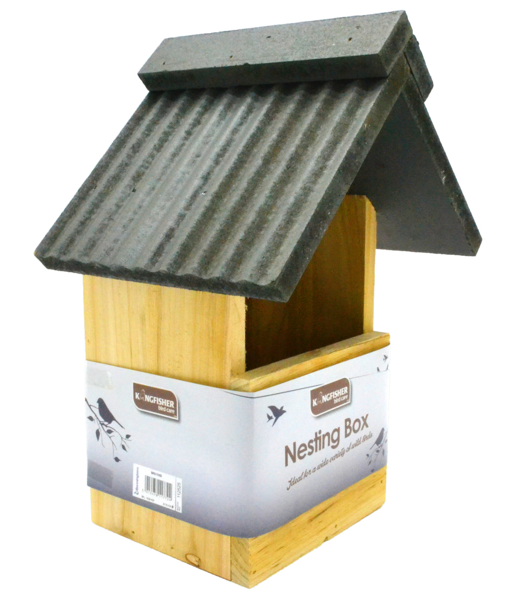 Kingfisher Deluxe Birdhouse nesting box for small garden song birds