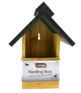 Wooden Robin and Bluetit bird boxes nesting box for the garden wild birds