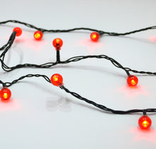 Red berry LED Christmas Lights Holly tree decorations outdoor ball lights