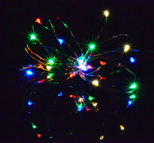 20 Multi-Coloured Micro LED Fairy Lights, copper wire rice lights AA battery powered