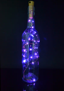 Twinkling Pink Fairy Lights Cork Wine bottle Lights 20 LEDs