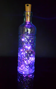 Twinkling Pink Fairy Lights Cork Wine bottle Lights 20 Twinkle LEDs