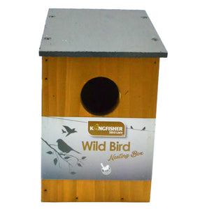 High quality bird box for small wild birds, slate roof fsc certified wood