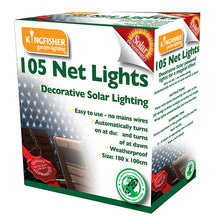 Kingfisher Solar Powered Outdoor garden net lights white LED
