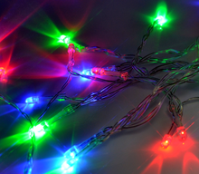 multi coloured 2m 20 LED battery operated fairy lights
