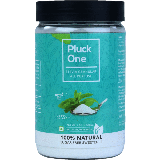 Combo Offer- Pluck One Stevia All Purpose Powder + Stevia Brown + Premium Dried Leaves