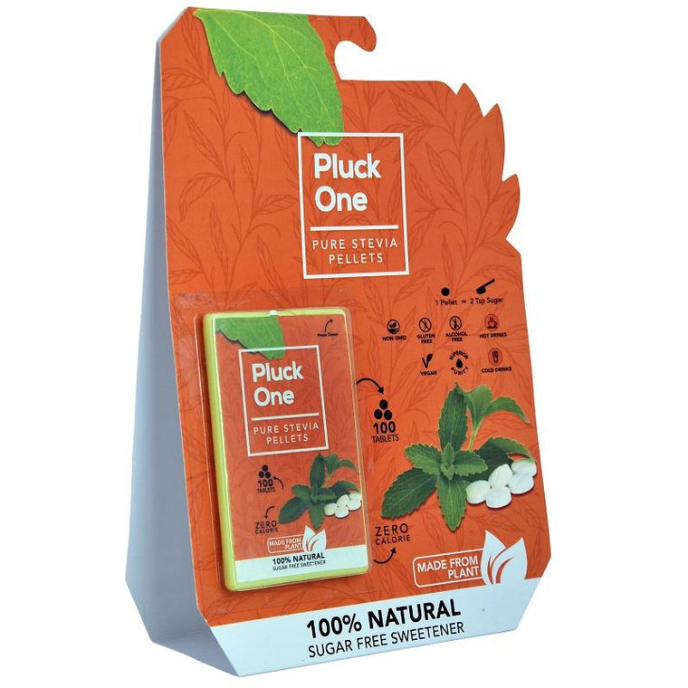 Pluck One Stevia Pellets | 100 tablets