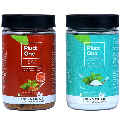 Combo Offer- Pluck One Stevia All Purpose Powder (100 gms) + Pluck One Stevia Brown Powder (100 gms)