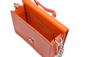 The Initial Bag - Bright Orange & Silver