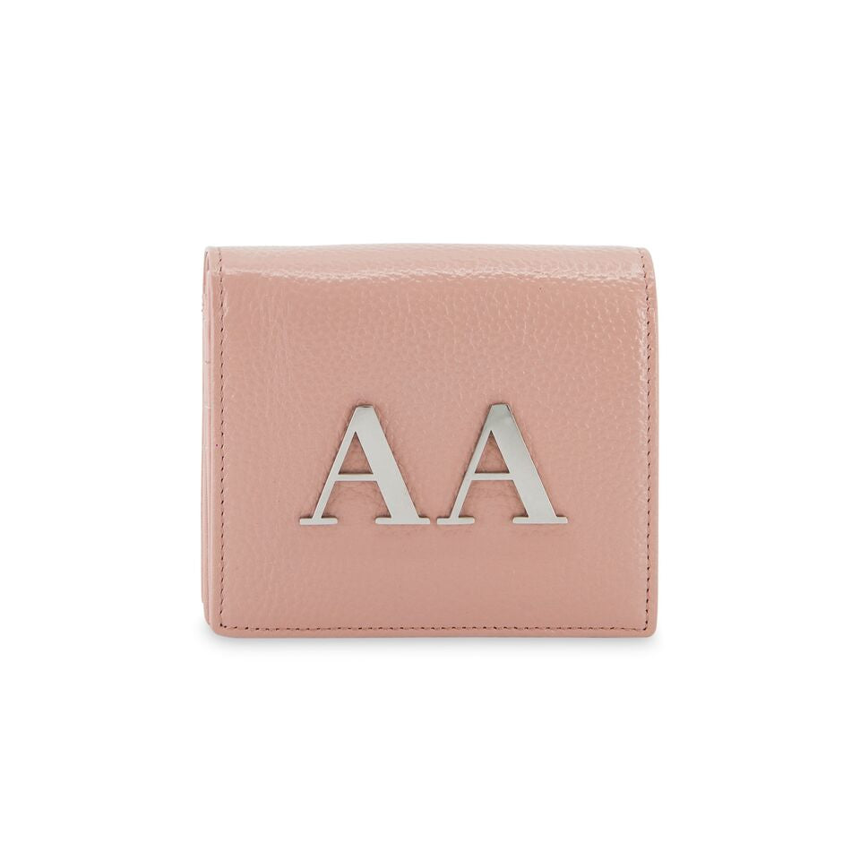 The Initial Wallet - Baby Pink & Silver