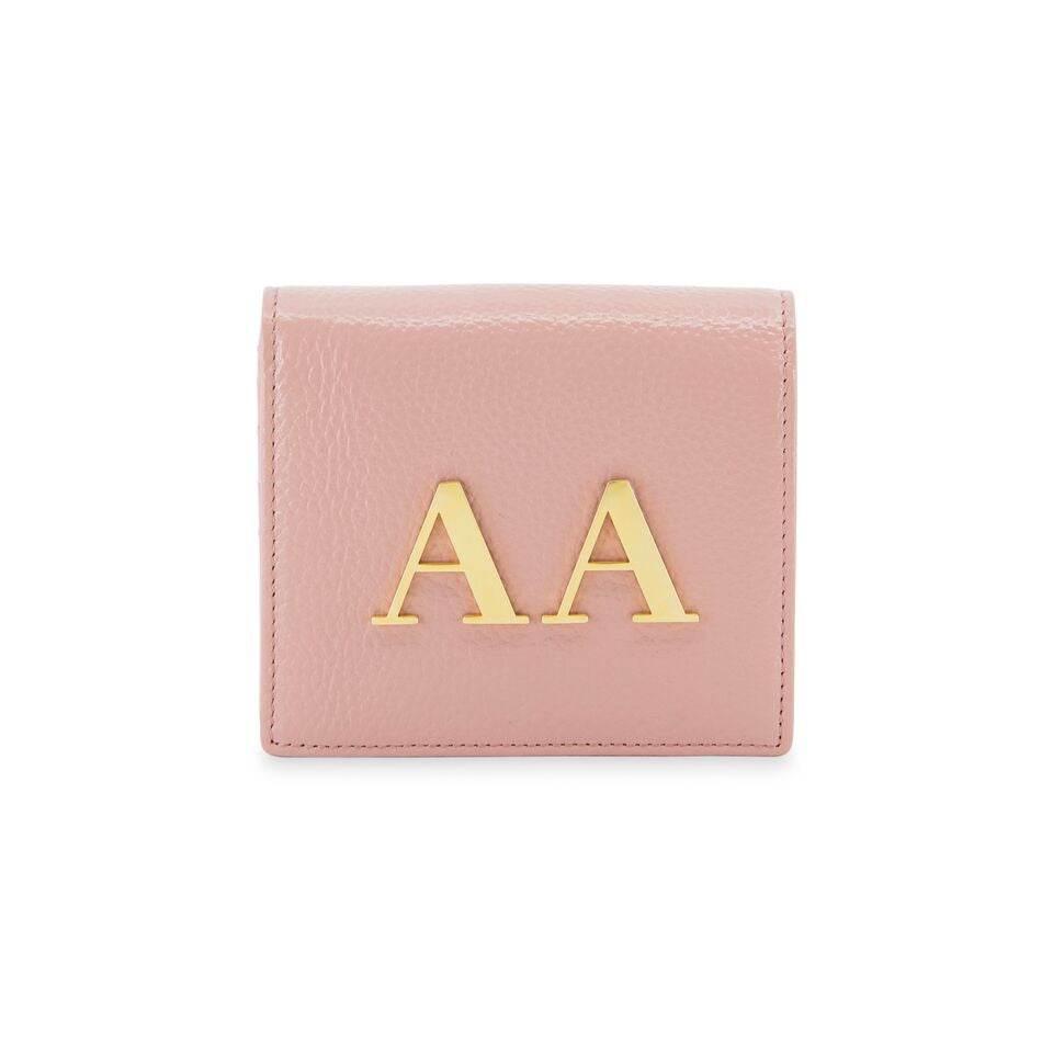 The Initial Wallet - Baby Pink & Gold