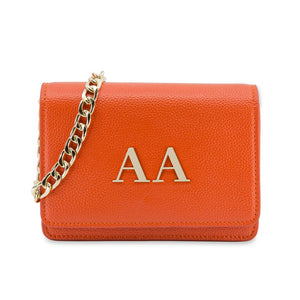 The Initial Bag - Bright Orange & Gold
