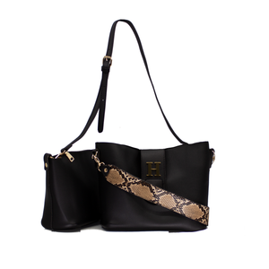 Two in One Bucket Bag Black