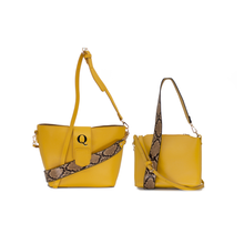 Two in One Bucket Bag Mustard