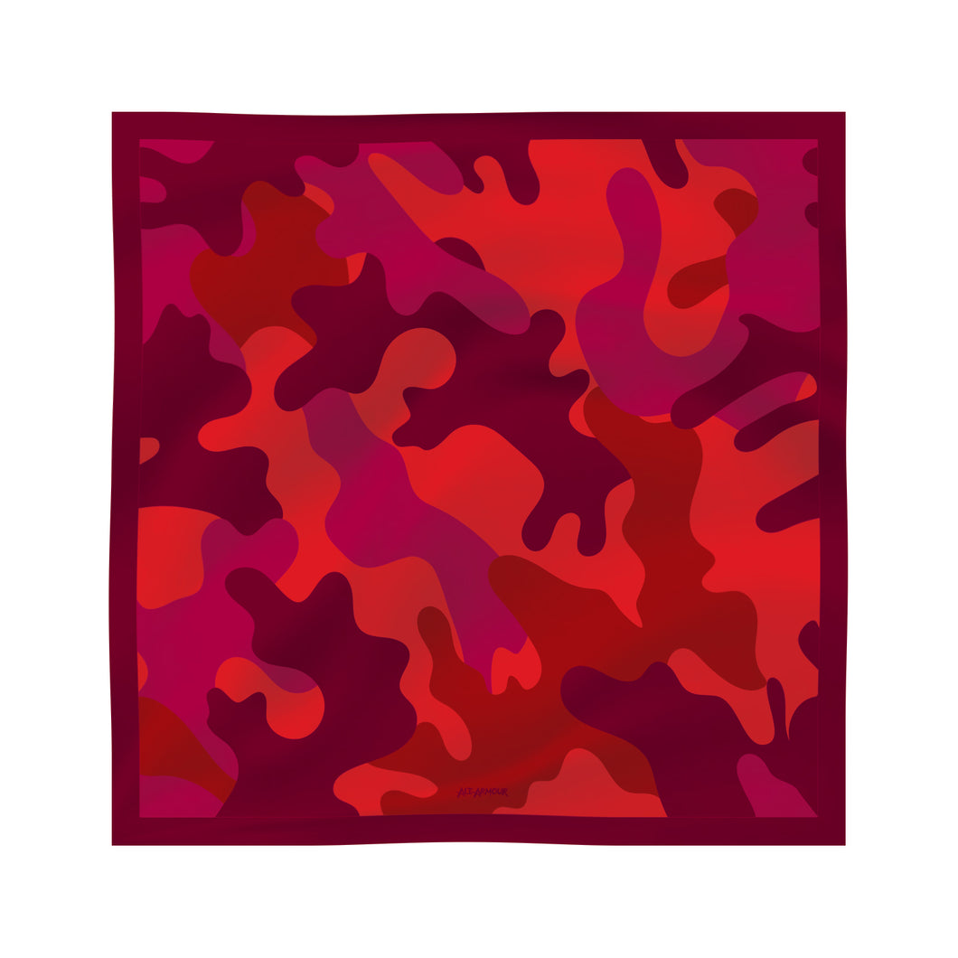 Silk Scarf - Red Camo