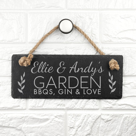 Personalised Slate Sign for Gardeners