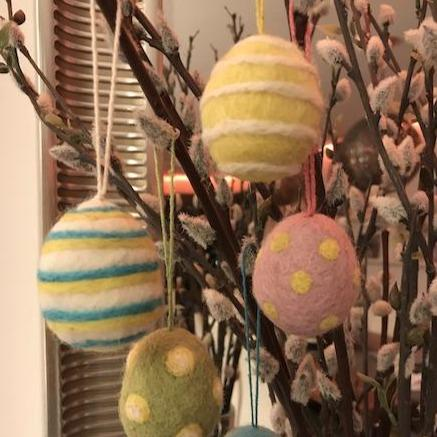 Mixed Felt Easter Eggs