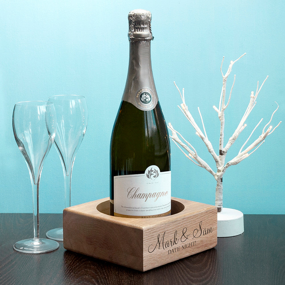 Personalised Champagne or Wine Bottle Coaster