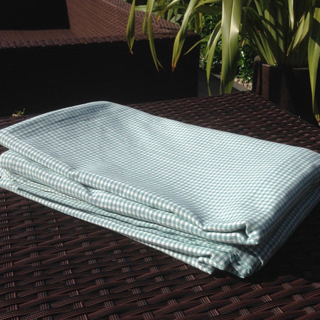 Ocean Gingham Table Cover