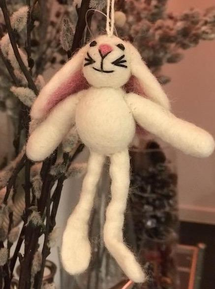 Hanging felt bunny Easter decoration