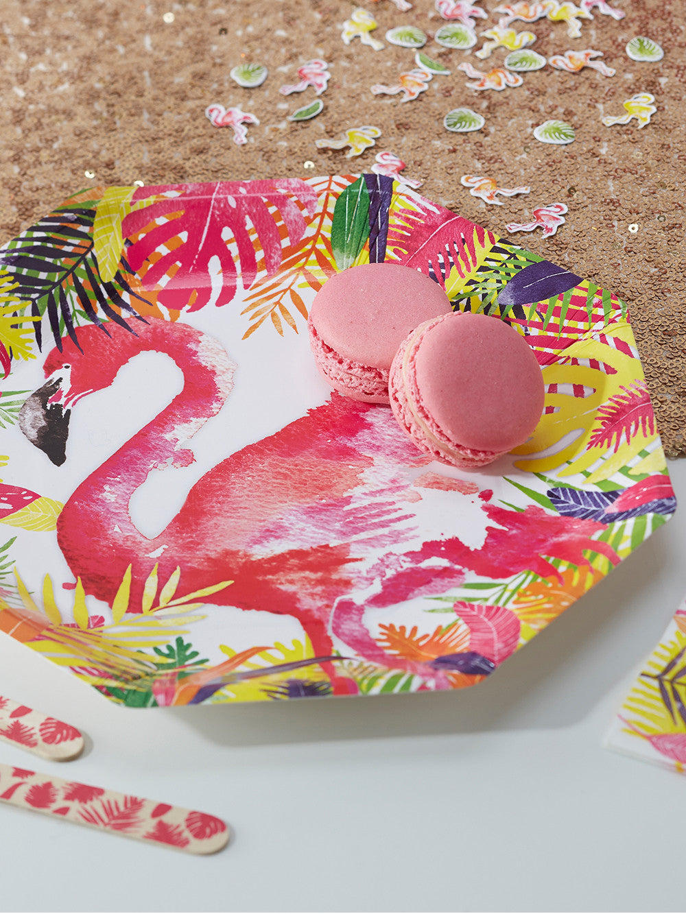 Flamingo Paper Party Plates