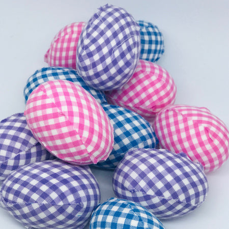 Gingham Easter Egg Decorations