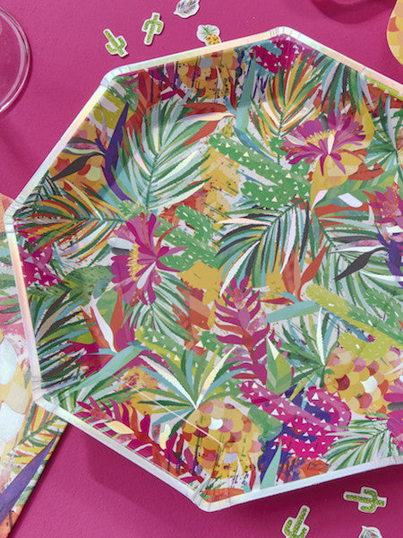 Tropical Paper Plates