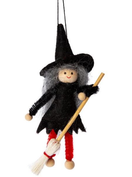 Gracie the Good Witch Hanging Halloween Witch Decoration