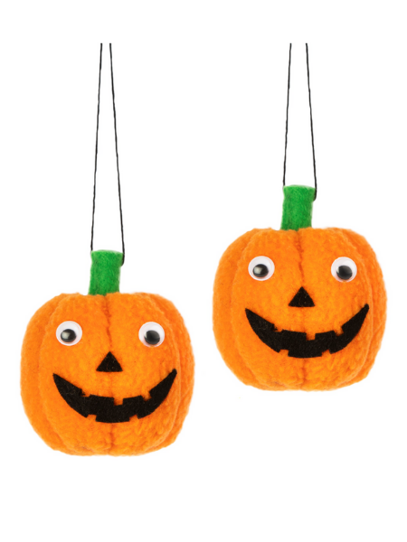 Set of 2 Hanging Pumpkin Decorations