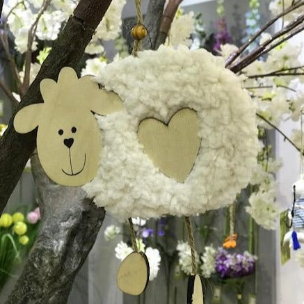 Hanging Wooden Sheep