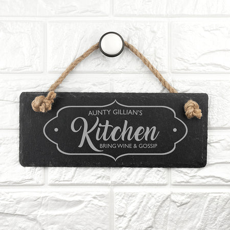 Personalised Kitchen Slate Sign