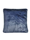 navy blue midnight blue luxury faux fur cushion