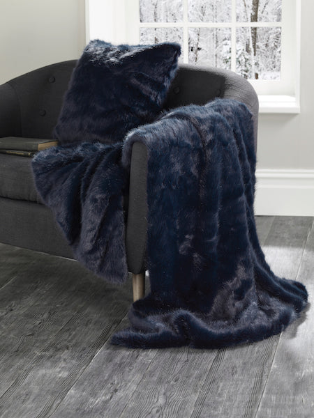 Navy blue throw Midnight blue throw